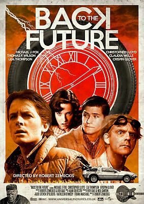 Back To The Future Movie Art Silk Poster 12x18 24x36