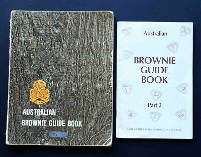 2 Australian Brownie Guide Books incl Part 2 Vintage 1970's Girl Guides Assoc
