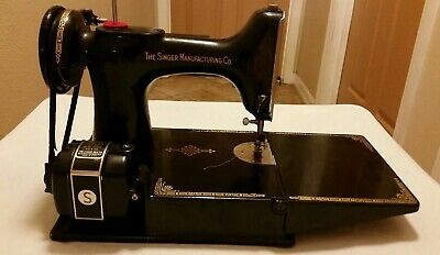 Singer Featherweight 221-1 sewing machine 1948 plus accessories NJ plant