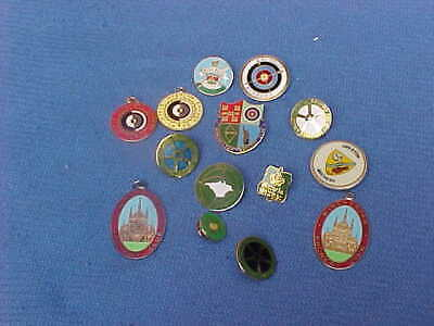 Selection Of Archery Bowman Club Badges Pins Stickers & Patches