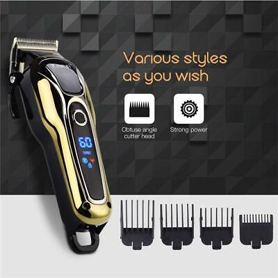 Rechargeable Hair Clipper Electric Mens Cordless Hair Trimmer Beard Shaver I9V2M