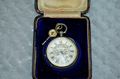 Antique Small Silver Pocket Watch With Key & original case [ Bodmin, Cornwall ]