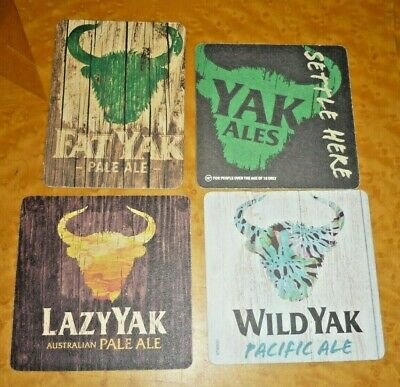 Collectable beer coasters: Set of 3 assorted Fat / Wild / Lazy Yak beer coasters