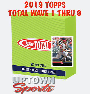 2019 Topps Total WAVE 1 THRU 9 UPDATED DAILY. QUANITY DISCOUNTS