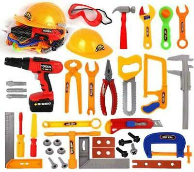 37 Pieces Tools Set Pretend Kids Toy  Play with yellow Helmet