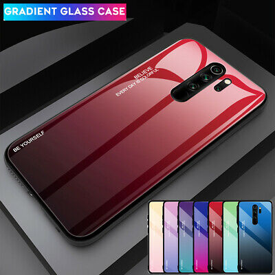 Shockproof Armor Hybrid Gradient Tempered Glass Case Cover for Redmi Note 8 Pro