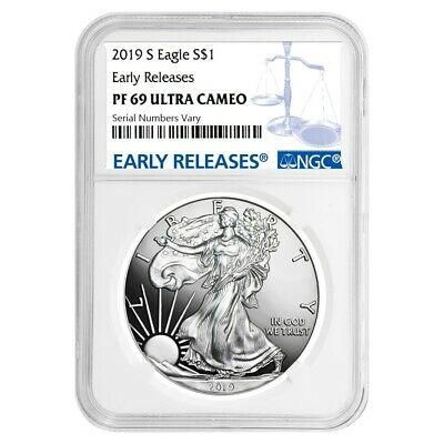 2019-S 1 oz Proof Silver American Eagle NGC PF 69 UCAM Early Releases