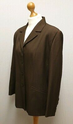 M&S St. Michael From Marks And Spencer Dark Brown Button Up Blazer Jacket