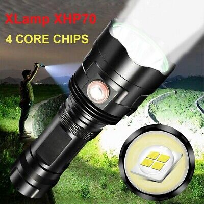 Waterproof Powerful LED 3*XHP70 Flashlight USB Rechargeable Torch Ultra Bright L