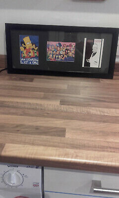 The Simpsons framed picture with 3 different pictures