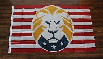 Donald Trump Lion 2020 Banner Flag President Presidential Election MAGA Rally