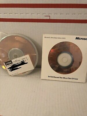 Microsoft Office Basic Edition 2003 & 2007 Home And Student W/ Product Keys
