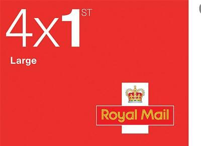 NO-NAME Royal Mail First Class Large Letter Stamps [25 x Book of 4] - FCLLSTAMPS