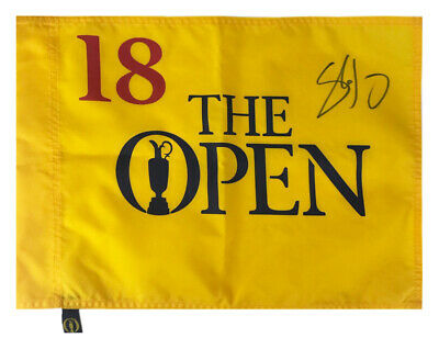 Signed Shane Lowry Pin Flag - Open Champion 2019 +COA