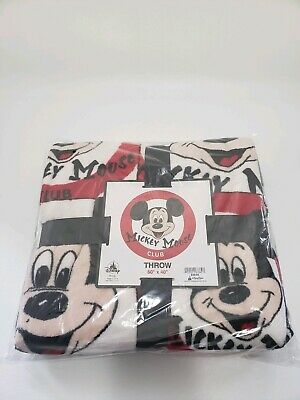 Disney Parks Mickey Mouse Club Fleece Throw Blanket New Sealed With Tags