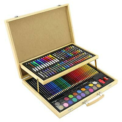 108pc ART SET CHILDRENS KIDS COLOURING DRAWING PAINTING ARTS & CRAFTS CASE