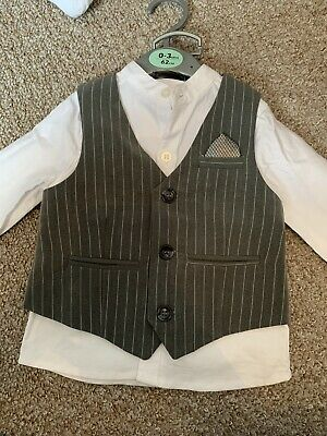 baby boy clothes 3-6 months grey suit, never worn with tags - v by very