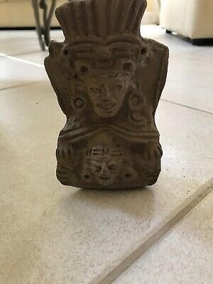 Pre-Columbian Looking Warrior Figure, Central American Pottery Statute