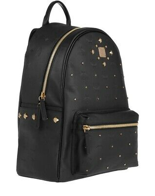 MCM Original Stark Odeon Backpack Medium Black Rucksack Unisex