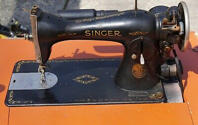 Vintage Singer Sewing Machine #15 with Cabinet 1937 no pedal, untested