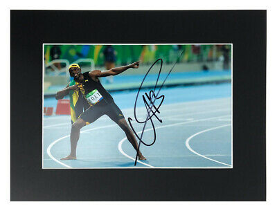 Usain Bolt Signed Photo Display - Jamaican Olympic Legend +COA