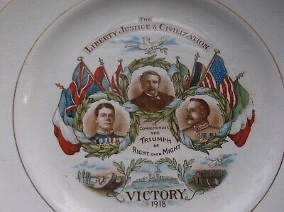 1918 WWI Commemorative Victory Plate