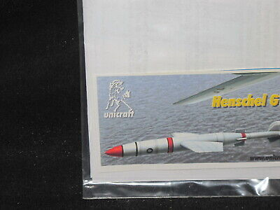 1/72 Unicraft Henschel GT-1200 Guided Bomb Full Kit