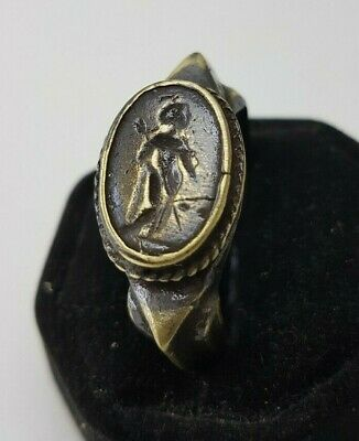 Ancient Bronze Legio Seal  Ring-Vintage-Antique ROMAN-BRONZE-RARE