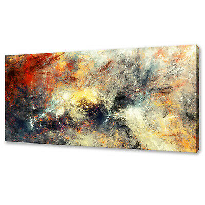 Modern Bright Artistic Paint Splashes Abstract Canvas Print Wall Art Picture