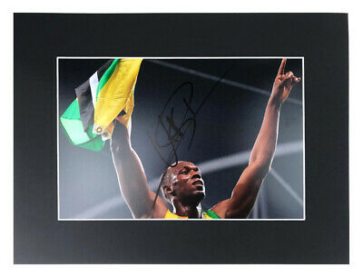 Signed Usain Bolt Photo Display - Jamaican Olympic Legend +COA