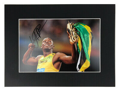 Authentic Usain Bolt Autograph - Signed Olympic Photo Display +COA