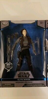 "Star Wars Elite Series Sergeant Jyn Erso Premium Action Figure 10"" Disney Store"