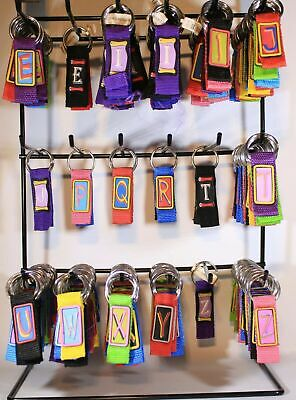 Joblot Wholesale Alphabet Keyrings EX DISPLAY FREE CARRIAGE
