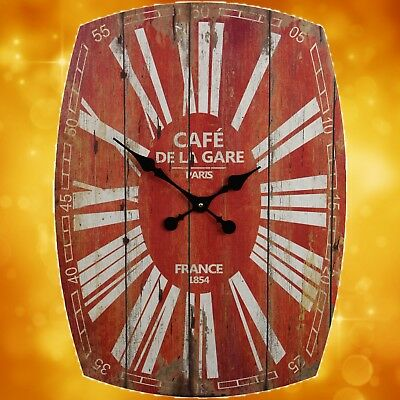 Large Wall Clock Paris Cafe de La Gare Furniture & Interior Gift Vintage 1