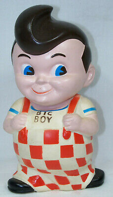 Vintage 1970's Frisch's, Bobs or Shoneys Big Boy Coin Bank 9 Inches tall