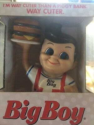 Bobs or Shoneys Big Boy Coin Bank with Hamburger 2013
