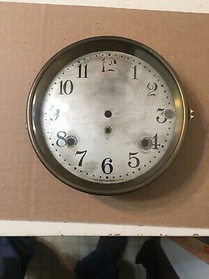 Antique Seth Thomas Sonora Chime Mantle Clock Dial & Bezel Door With Glass