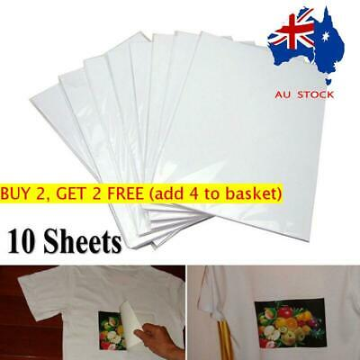 A4 Heat Transfer Iron-On Paper For Light & Dark Fabric Cloth T-shirt- AU