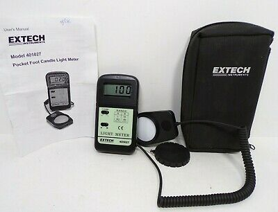 Extech 401027 Light Meter Foot Candle - Tested - With Manual and Carrying Case