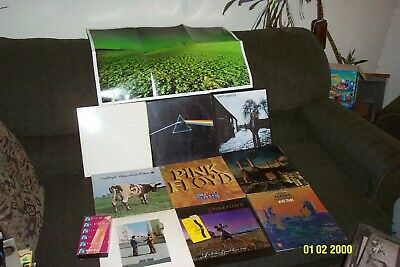 Pink Floyd 9 Lp Lot Dark Side Of The Moon, Wish You Were Here, Animals, The Wall