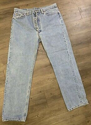 VTG 90's Levis 501 Button Fly Jeans Size 36 X 32 Made USA