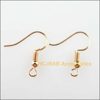 100Pcs Spring Ball French Earring Hooks 20mm KC Gold Plated