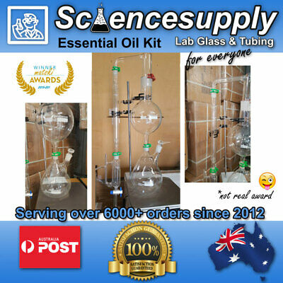 essential oil distillation steam chemistry distill organic glassware  kit FULL