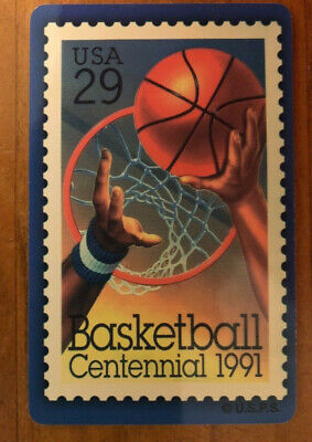 Vintage Basketball Centennial 1991 Stamp Phonecard