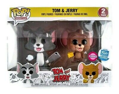 Funko Pop Tom And Jerry 2 Pack Shop Exclusive Animation Vinyl Figure Flocked New