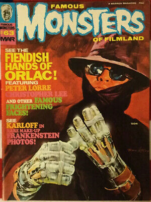 famous monsters of filmland magazine #63 VG+ Very Good Plus
