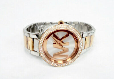 Michael Kors 39mm Parker Rose Gold Silver SS Women's Watch MK-6314 P3/N3292