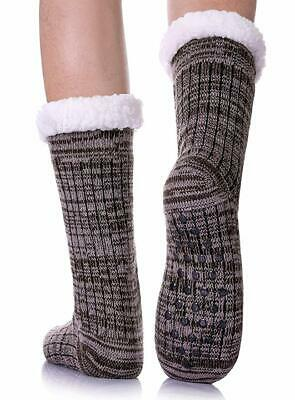 CHOWISH Fuzzy Slipper Socks Men's Classic Color Cozy Soft Thermal Socks for Wint