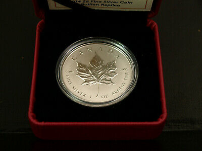 Canadian 2014 $5 MAPLE LEAF Silver Proof Coin