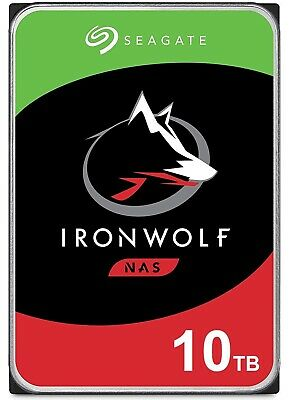 "Seagate Internal Hard Drive NAS  10TB 3.5"" SATA IronWolf HDD 7200RPM 256MB"